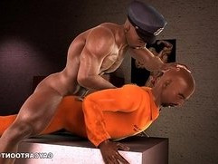 3D ebony gets fucked in the ass by a corrupt cop