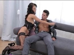 Strapon Ripped euro guy gets ass fucked by his sexy girlfriend