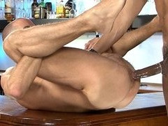 Lucio Saints Fucks Tony Axel on the Bar