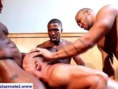 Three ebony fucking asian dude
