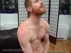 Sexy Ginger Man Masturbation In Shower