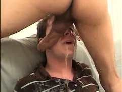 Innocent amateur twink gets face fucked and gags