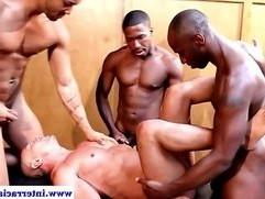 Muscular ebony jocks ass fucking and bj