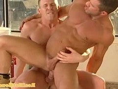 Muscular homo jock getting pounded