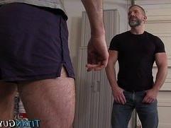 Muscly hung men jerk off